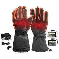 Ski Gloves Electric Heated With3600mAh Rechargeable Battery Powered Heat Waterproof Winter Thermal Warm For Outdoors