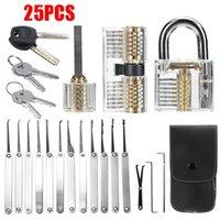 Entsperren der Locksmith-Praxissperre Pick-Tastatur-Extractor-Vorhängeschloß-Lockpick-Tool-Kits