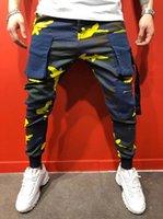 Мужские повседневные камуфляжные брюки толстые брюки Slim Fit Тренировки беговые спортивные штаны с карманными мужчинами фитнес трексуита дна тощие брюки 139