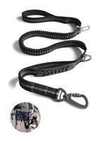 Starke Bungee-Hundeleinen mit Autositzgürtelschnalle für mittlere große Hunde Stoßdämpfung reflektierendes Blei Seil KDJK2106