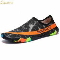 Sycatree Casual Zapatos Hombres Secado rápido Unisex Beach Barefoot Aqua Shoes Amantes al aire libre Mujer Yoga Surfing Water Scarpe K0TB #