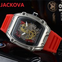 USA fashion trend men skeleton dial watches jelly Silicone student wristwatch gift Montre Homme Quartz Waterproof Sports Watch Reloj hombre