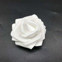 10pcs-100pcs Foam White PE Foam Rose Fleur Rose artificielle pour la maison Décorative Fleur Couronne Partie de mariage DIY Décoration 422 V2