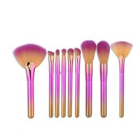 Fondation Maquillage Brosses Rainbow Ougshadow Poudre Poudre Eye-liner Maquillage Brosse Ensemble Maquillage Professionnel Maquillage Brosse Outils Yhm358
