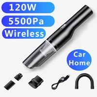 Handheld Auto Vacumm Cleaner Mini Vacugeeur de voiture sans fil Super forte Aspiration 5500 PA 60W Portable Pour voiture Home Cheveux