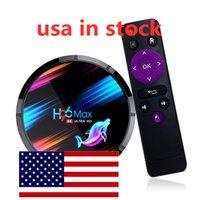 Navio dos EUA H96 Max X3 Caixa de TV 8K BT4.0 Media Player Amlogic S905x3 Android 9.0 4GB RAM 32GB ROM