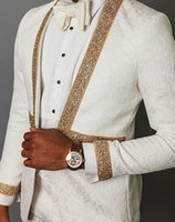 Costumes hommes blazers solovedres costume jacquard diamant isle isle dou noble robe dîner focus focus mariage pantalon blazer
