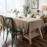 Table Cloth Plain Color High Quality Tablecloth Burlap Linen Oilproof Waterproof Wave Lace Cover For Dinning Room Kitchen Home Decor