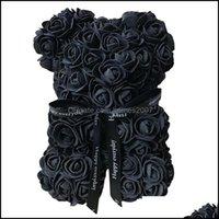 Forniture festive decorative Home GardenDecorative Flowers Greaths Rose Bear Bambole Micolore Sapone Micolore Artifdiciacy Foam Flower Teddy Valentino D