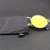 100pcs / lot Noir Fibre Toileau Étanche Étanche Lunettes de soleil Pochette Soft Lunettes Sac à lunettes Sac à lunettes Sac de rangement en gros B3 T200505