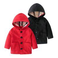 Neue Frühling Herbst Baby Jungen Mädchen Windjacke Jacken Kinder Mit Kapuze Mäntel Neue Mode Kinder Woolen Outwear Jungenjacke Mädchen Tench Mantel