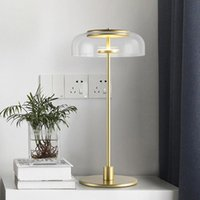 Nordic Table Lamps Modern Minimalist Lamp Study Bedroom Living Room led Light Luxury Model Room Creative Tained Glass Table Lamp
