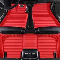Künstliches Leder Auto Fußbodenmatte für Geely Atlas Emgrand EC7 Alle Modelle Teppich Alfombra Luxus-Surround-Matten-Teppiche