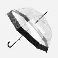 مظلات مظلة شفافة مظلة الإبداعية المطر مشمس النساء الفتيات السيدات الجدة البنود طويلة مقبض rainproof unbrellas