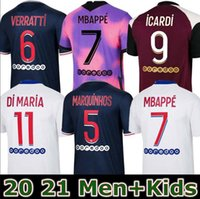 Maillots 2020 2021 네 번째 MBappe Icardi 축구 유니폼 20 21 풋볼 셔츠 Florenzi Verratti Kids Marquinhos 유니폼