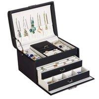 صندوق مجوهرات مع سعة كبيرة زخرفة الأذن مسمار قلادة بسيطة ورائعة حلقة المنزلية المجوهرات الراقية 210713