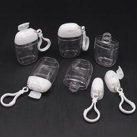 30 мл бутылка дезинфектора рук с ключевым кольцом Крючок Прозрачные пластиковые погрешные контейнеры для туристической бутылки Party 2021