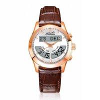 Designer Watch Brand Zegarki Luksusowy Zegarek lub wszystkie modlitwy Wspierają Angielski i Arabski Różany Gold 32mm Dial Wodoodporna Skóra Oryginalna