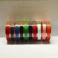 ouro paltou esmalte cor pulseira titanium aço amor prego oval pulseira gravada