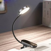 LED Clip Table Lâmpada Stepless Dimable Secretária Sem Fio Lâmpada Toque Usb Recarregável Leitura Luz LED Night Light Light Lamp