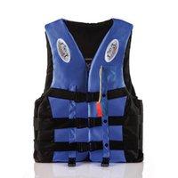 Su Sporları Adam Çocuk Ceket Polyester Yetişkin Yaşam Yelek Ile Düdük M-XXXL Evrensel Yüzme Botla Kayak Sürüklenen Yaşam Yelek