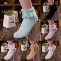 Socks Princess Girl Cute Sweet Women Ladies Vintage Lace Ruffle Frilly Ankle N0HD