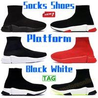 Top Quality Socks Scarpe Paris Uomo Donna Piattaforma Casual Scarpe Casual Bianco Bianco Verde Triple Red Fashion Adatto Sneaker per esterni Mens Chaussures US 6-12