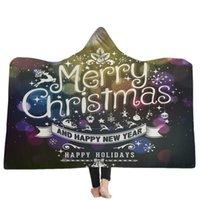 Kerstcollectie Elk Kleur Print Comfortabele Zachte Warme Deken Draagbare Volwassen kinderen Draagbare Kaap Sofa Beddengoed Thuis Textiel