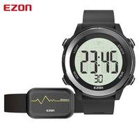 EZON T057 Sport Guarda gli uomini con cintura cardiaca Belt fitness in esecuzione orologio digitale 50m Allarme impermeabile Calorie Bluetooth Connects