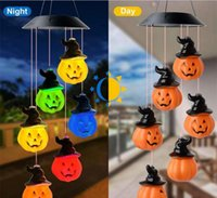 Solar Wind Chimes Outdoor Color Changing Solar Mobile Wind Chime Waterproof Solar Powered LED Hanging Lamp for Garden