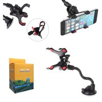 Top sale Long Arm Car Holder Mount with Clip Suction Cup 360 Degree Rotated Windshield Phone Holder For 4.7inch 6.8 inch Cellphone