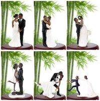 Autres Festives Fête Fournitures de mariage Cake Cake Topper, Couple Afro-américain Black Toppers pour anniversaire de douche de mariée de fiançailles