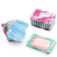 Yaratıcı tarak şeklinde duş sabunluk ücretsiz perforasyon boşaltma sabunluk çevre dostu silikon sabunluk 18 renkler owd5447