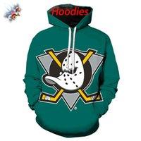 Sweats à capuche Homme Sweatshirts Fashion The Mighty Ducks Sweat à capuche Du Hockey Haut Funny Sticks Sticks Casque Coton d'été