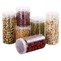 1 stück küche aufbewahrungsbox kunststoff verschlossener konservierung frischer topf container mit abdeckung für süßigkeiten ganze körner