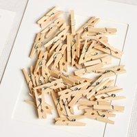 Clipes de saco 50/100 pcs 3cm Mini Mini Natural Roupas De Madeira PO papel PEG PIN PALESPIN CRAFT Escola Escola de Artigos de papelaria
