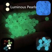 Smoke accessories 4mm 5mm 6mm 8mm 10mm Terp Slurper Blender Pearls Balls Luminous Glowing Blue Green Cyan Pearl For quartz Banger Nails Glass Bongs Rigs