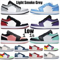 2021 Low 1 1s Shoes Men Women Milan Tie Dye OG Bio Hack Blue...