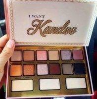 Vente vente vente !!! Maquillage Palesettes 15Couleurs JE VOULEZ Kande LIMITED EDITION PALETHADOW palette de haute qualité