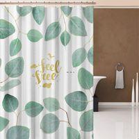 1 قطع الرخام نمط الحمام الستار للماء دش الستائر هندسية حمام الشاشة المطبوعة الستار للحمام هدية HWF5416