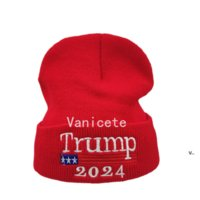 Cappelli da festa 2024 Trump Maglia Cappello in lana American Campaign American uomo e donna calda calda calda Balck Red Sea Shipping RRD8927