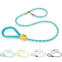 Colares coleiras de cachorro trela coleira de corda de corda leva pesado reflexivo trançado ajustável laço de loop treinamento para cães médios grandes