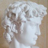DAVID Head Ritratti Busto Gypsum Statua Michelangelo Buonarroti Scultura Decorazioni per la casa Artigianato Artigianato Schizzo Pratica L1239 54 S2