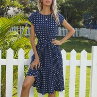 2021 Summer Korean Fashion Dress for Women Vintage Solid Blue Maxi Party Robe Bohemian Casual Wedding Guest Womens Clothing