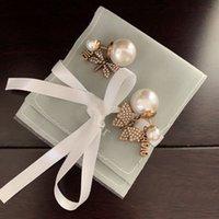 Drand مصمم مجوهرات 2021 أقراط براس مذهب النمط الكلاسيكي الاستنساخ الرسمي لمكافحة الحساسية عيد هدية رائعة هدية زوجين أعلى جودة ترصيع