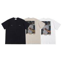 2020 유럽 T 셔츠 남성 클래식 레트로 티즈 남성 탑스 디자이너 Tshirts 짧은 소매 고밀도 고품질 디지털 직접 주입 인쇄