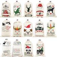 عيد الميلاد سانتا أكياس قماش القطن حقيبة كبيرة العضوية الثقيلة الرباط الأكياس شخصية مهرجان حزب XMMASSEA الشحن OWD9900