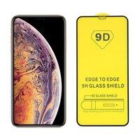 Protecteur d'écran de colle complet de 9D pour iPhone 12 11 Pro Max Pro Tempéra Verre Film de protection pour Apple 6s 7s 8s Plus X XS Max SE 2020