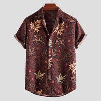 Hot New Fashion Men's Travel Shirt Summer Casual Printed Short Sleeve Top Blouse Daily Life Party Camisas Para Hombre 2021