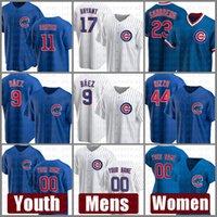 시카고 남성 새끼 여성 9 Javier Baez Youth Baseball Jersey 44 Anthony Rizzo 17 Kris Bryant 23 Ryne Sandberg 사용자 정의 40 Willson Contreras